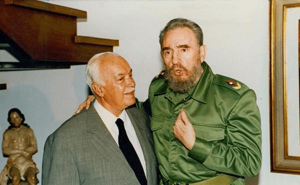 Antônio Carlos Magalhães e Fidel Castro